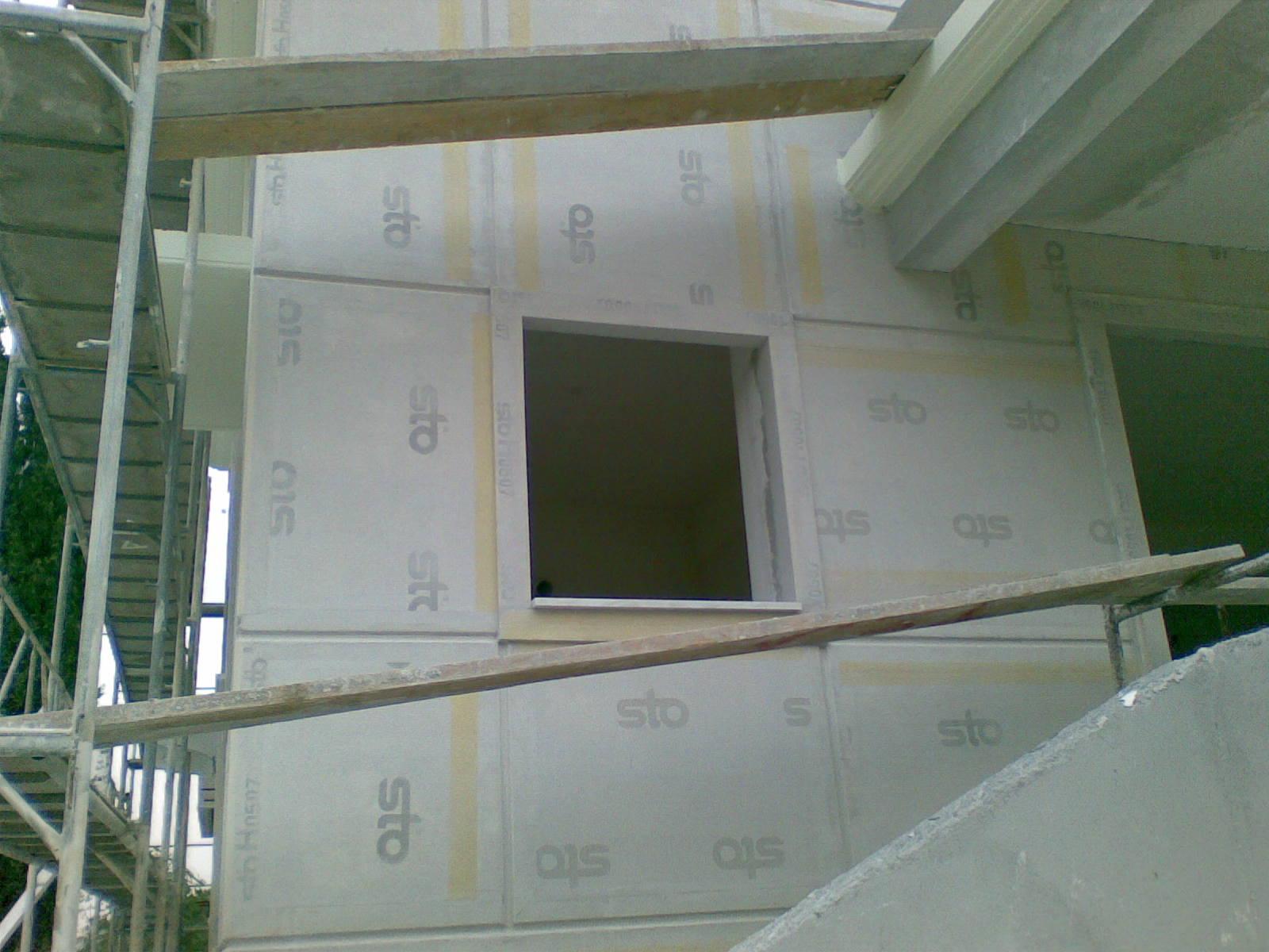 Εξωτερική θερμομόνωση σε νέα κατοικία STO THERM CLASIC