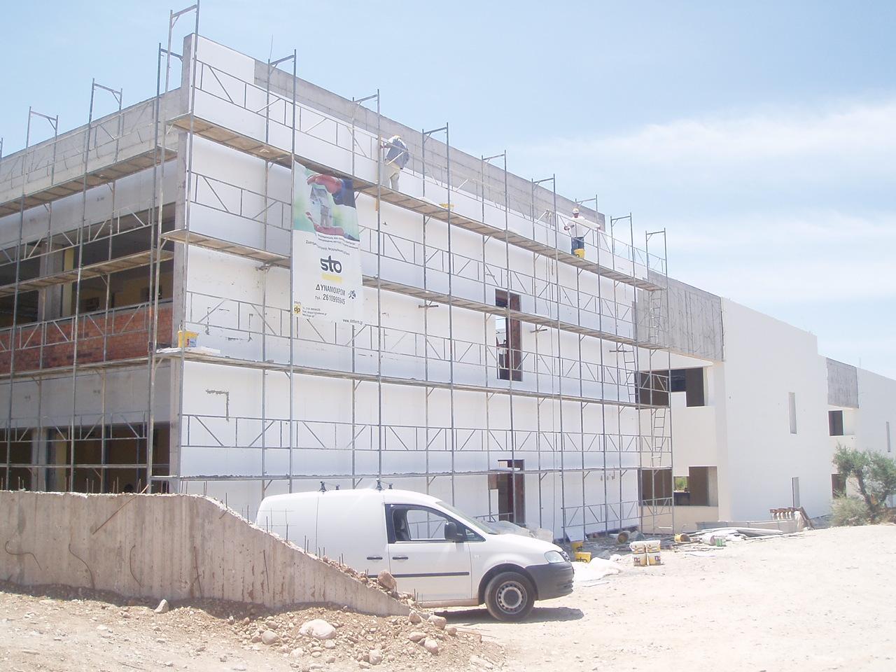 Εξωτερική θερμομόνωση σε νέα κτίρια σύστημα STO THERM VARIO