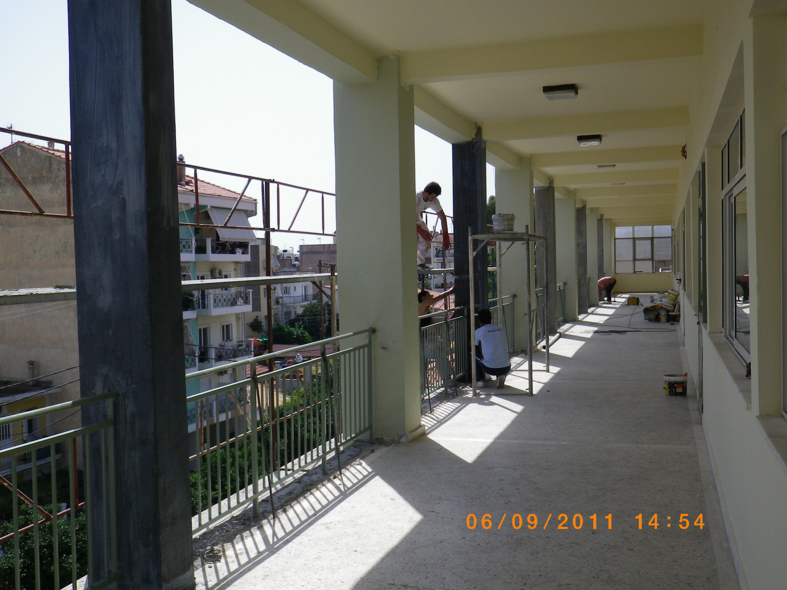 στατικη ενισχυση κτηριου με ανθρακωνυματα ΕΠΑΛ Ναυπακτου